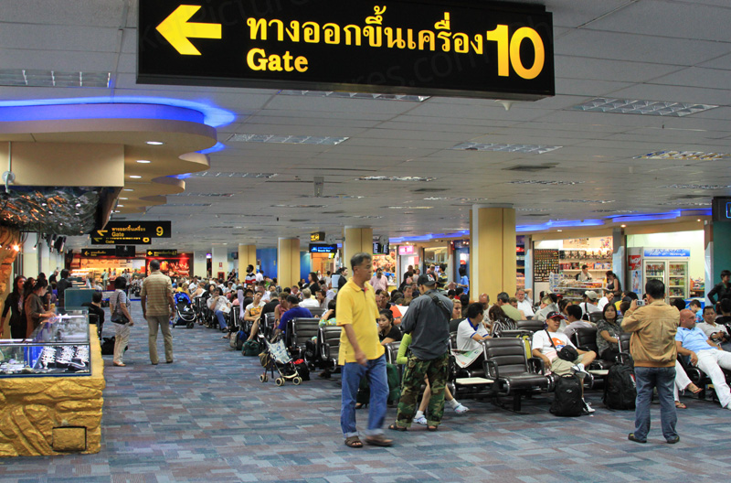 Phuket International Airport - the domestic departures lounge