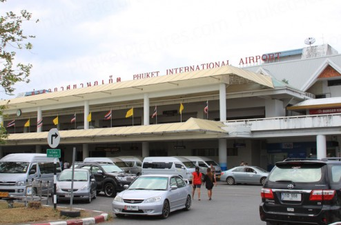 Phuket International Airport ground floor entrance