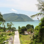Seaview from the East coast of Phuket with island in background