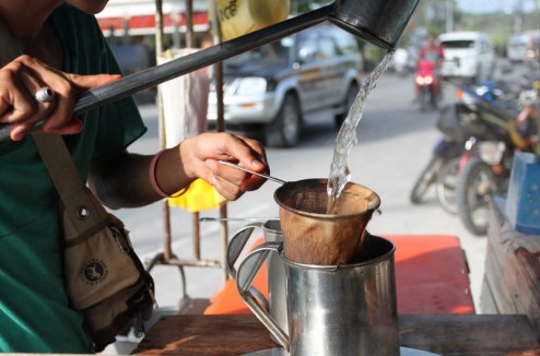 Fresh Thai coffee on the street